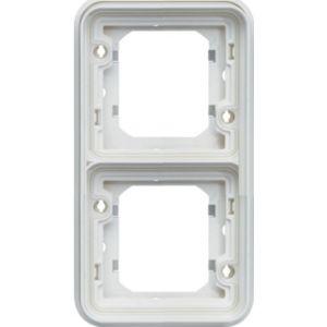 Support encastré 2 postes  vertical Cubyko blanc