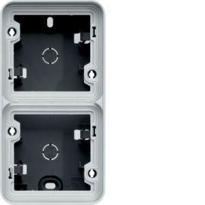 Boîte en saillie 2 postes verticale Cubyko gris