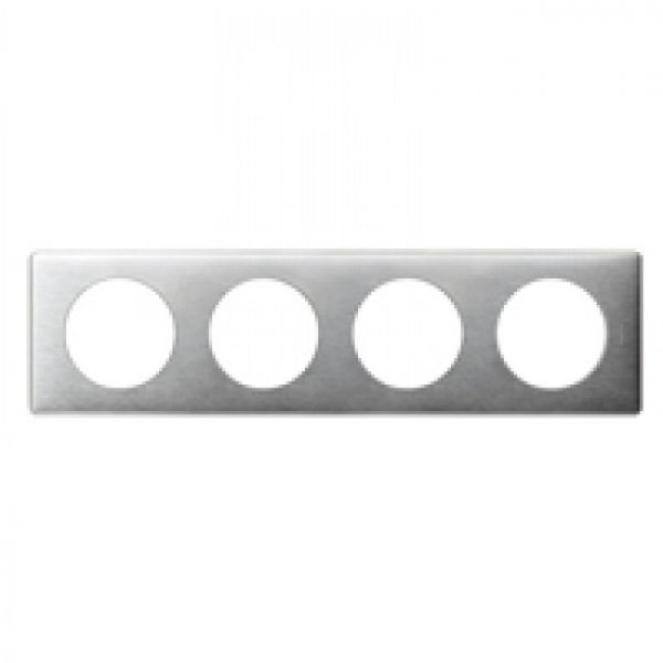 Plaque 4 postes Céliane Aluminium Bâtir Moins Cher