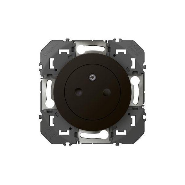 Prise de courant 2P+T Surface dooxie 16A finition Noir - Legrand - 095275