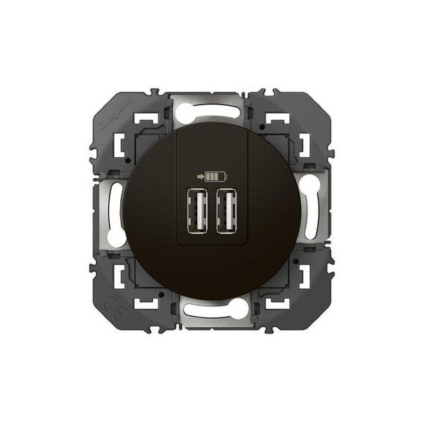Double chargeur USB TypeA dooxie 2,4A finition Noir Legrand 095287