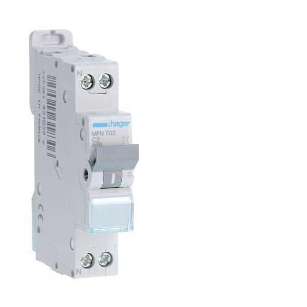 Disjoncteur Hager 2A - Borne à Vision-EL - Hager - MFN702