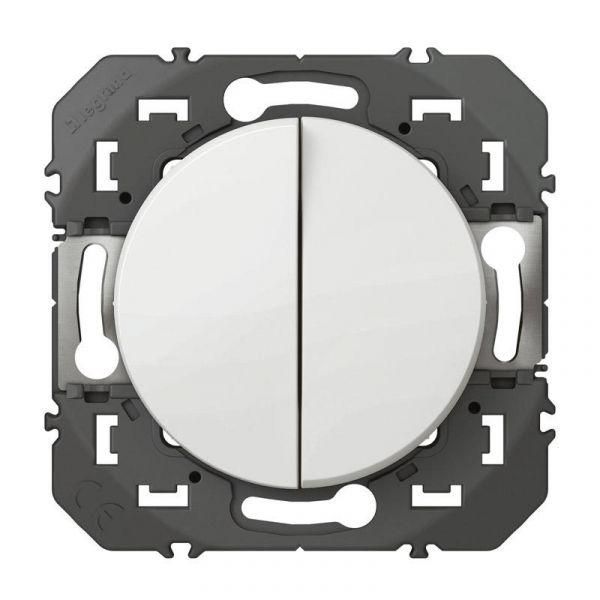 Double interrupteur ou va-et-vient dooxie 10AX 250V~ finition blanc - 600002 - Legrand
