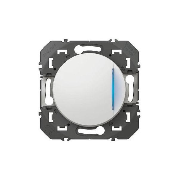 Interrupteur ou va-et-vient avec voyant témoin dooxie 10AX 250V~ finition blanc - 600009 - Legrand