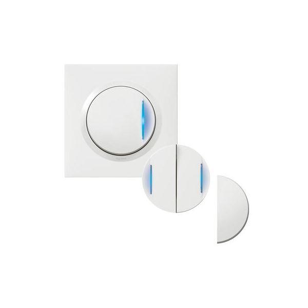 Transformeur pour réaliser 5 fonctions lumineuses dooxie one livré avec plaque carrée blanche et griffes 600730 Legrand