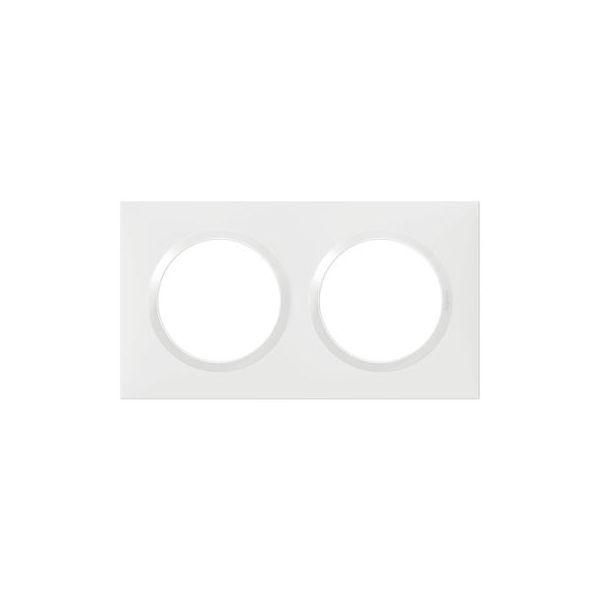 Plaque carrée dooxie 2 postes finition blanc - 600802 - Legrand