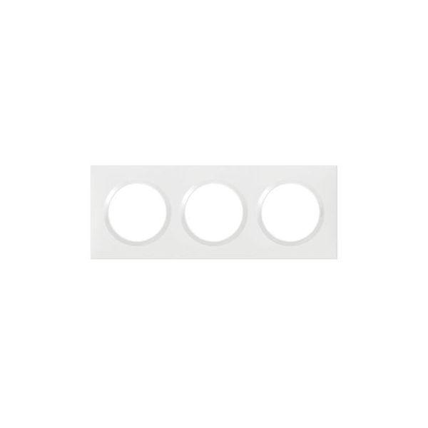 Plaque carrée dooxie 3 postes finition blanc - 600803 - Legrand