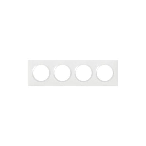 Plaque carrée dooxie 4 postes finition blanc - 600804 - Legrand