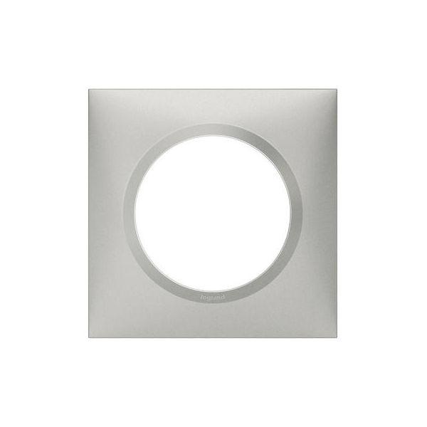 Plaque carrée dooxie 1 poste finition effet aluminium - 600851 - Legrand