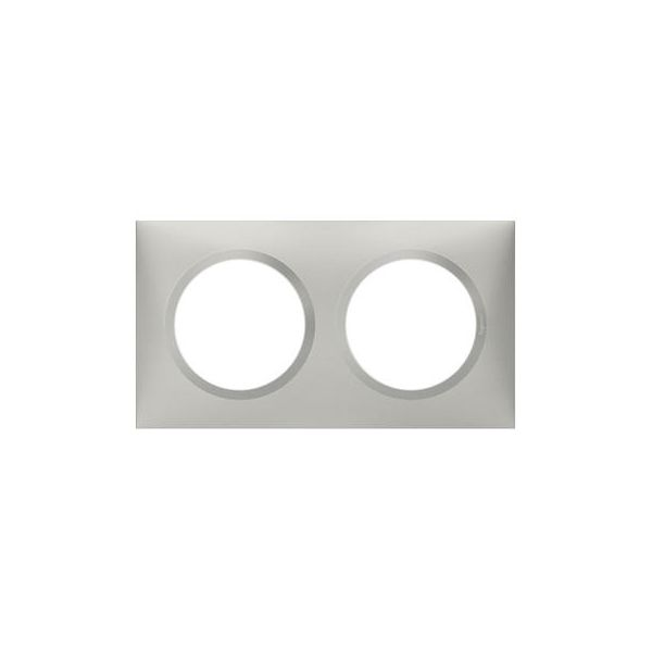 Plaque carrée dooxie 2 postes finition effet aluminium - Legrand - 600852