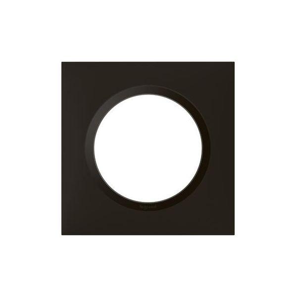 Plaque carrée dooxie 1 poste finition noir velours - 600861 - Legrand