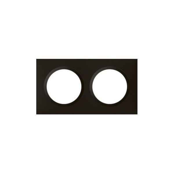 Plaque carrée dooxie 2 postes finition noir velours - 600862 - Legrand