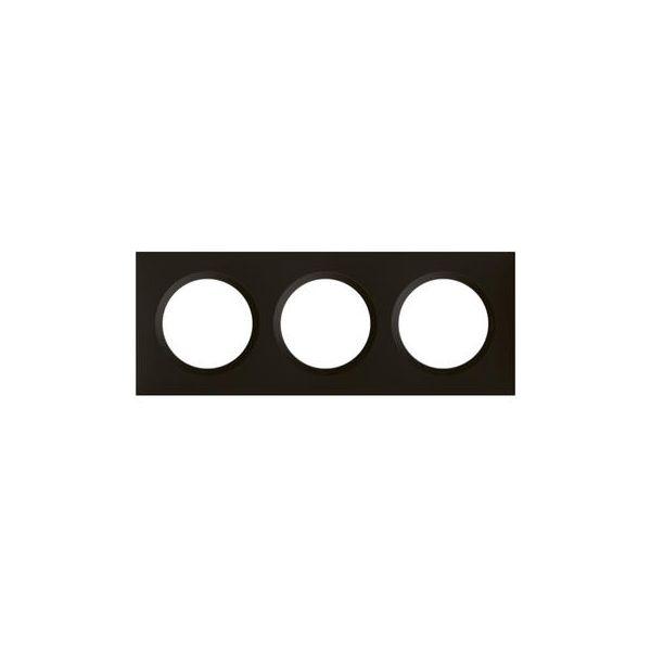 Plaque carrée dooxie 3 postes finition noir velours - 600863 - Legrand