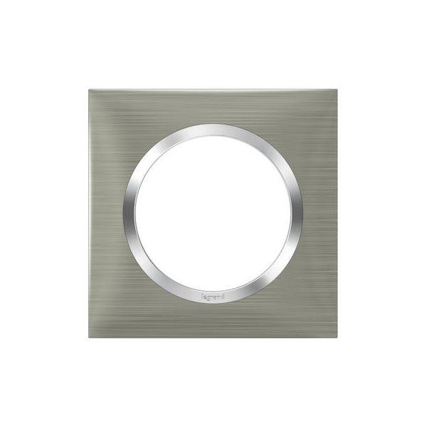 Plaque carrée dooxie 1 poste finition effet inox brossé - 600871 - Legrand