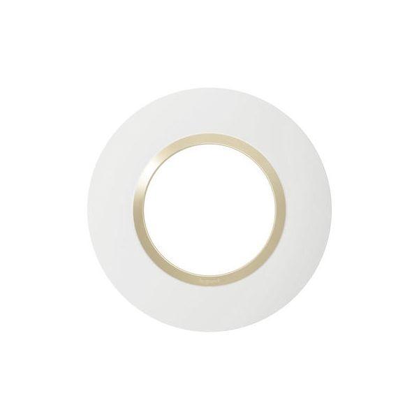 Plaque ronde dooxie 1 poste finition dune - 600970 - Legrand