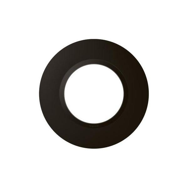 Plaque ronde dooxie 1 poste finition noir velours