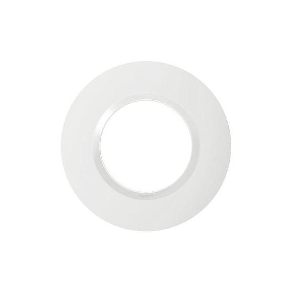 Plaque ronde dooxie 1 poste finition blanc - 600980 - Legrand