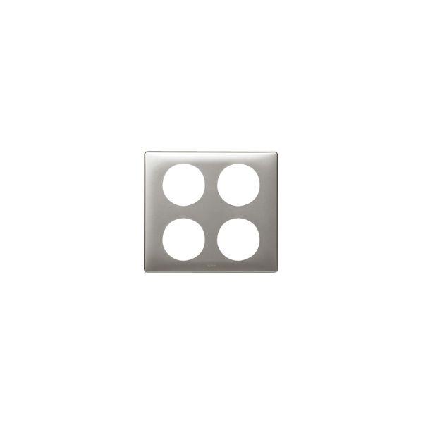 Plaque 2 x 2 postes Céliane Titane
