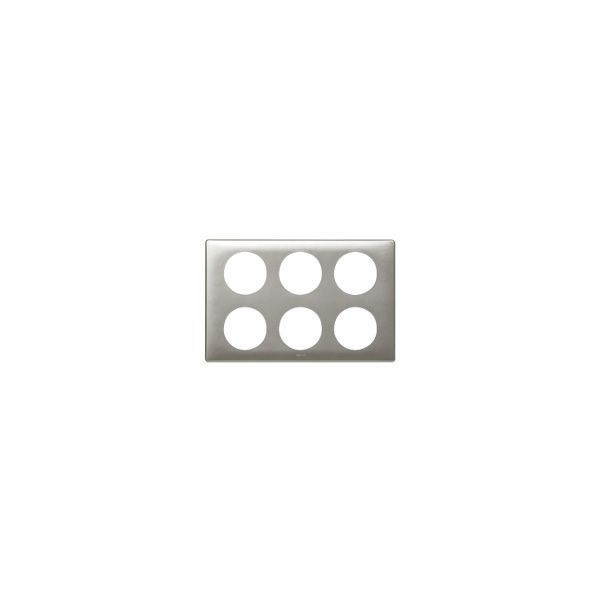 Plaque 2 x 3 postes Céliane Titane - 068969 - Legrand