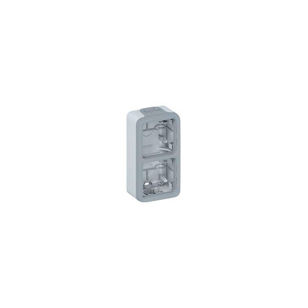 Boîtier Plexo 2 postes vertical - Gris - 069661 - Legrand