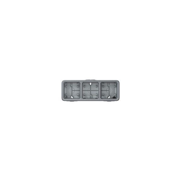 Boîtier Plexo 3 postes horizontal - Gris - 069680 - Legrand