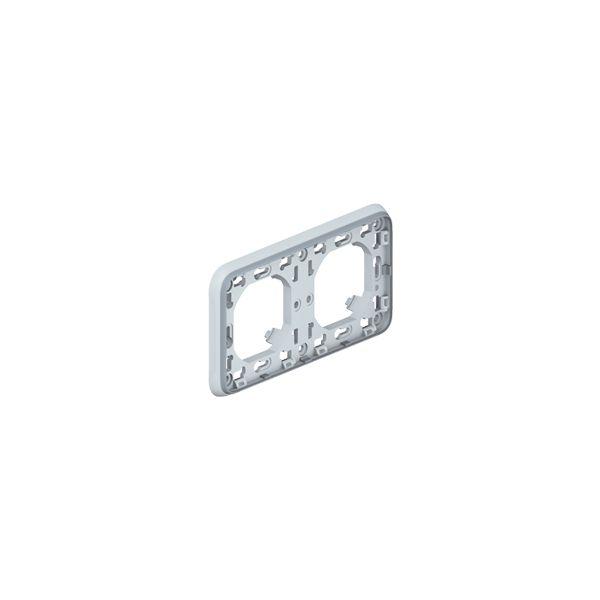 Support Plexo 2 postes horizontal - Gris 069683 Legrand