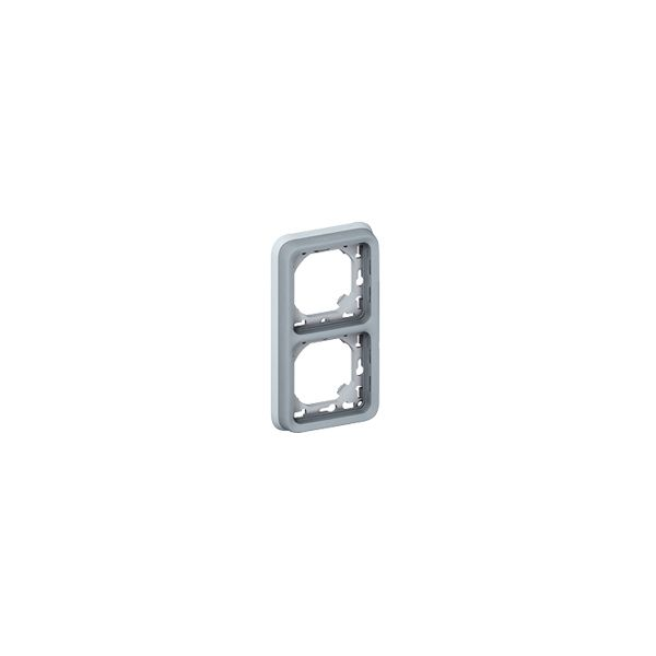 Support Plexo 2 postes vertical - Gris - 069685 - Legrand