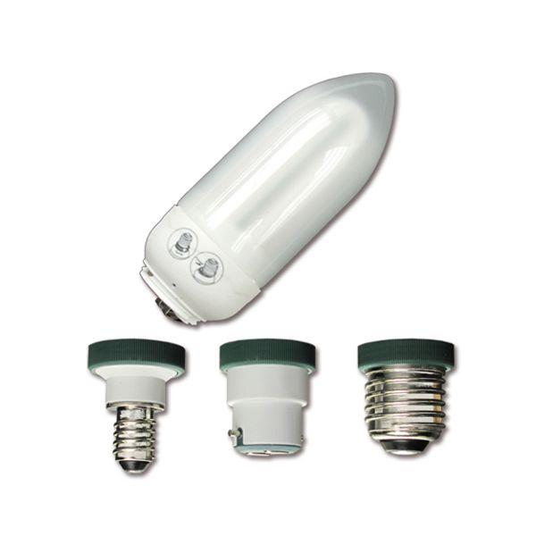 Ampoule Flamme 9W - 3 culots