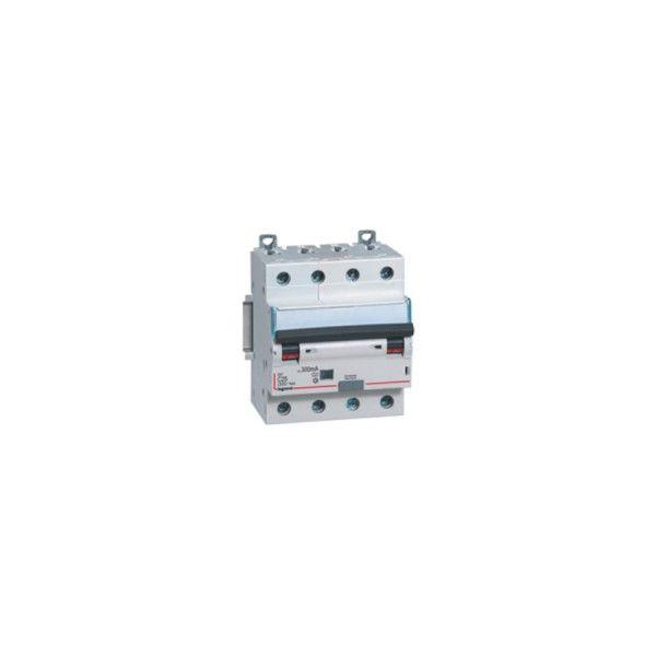 Disjoncteur différentiel tétrapolaire 16A type AC 30mA