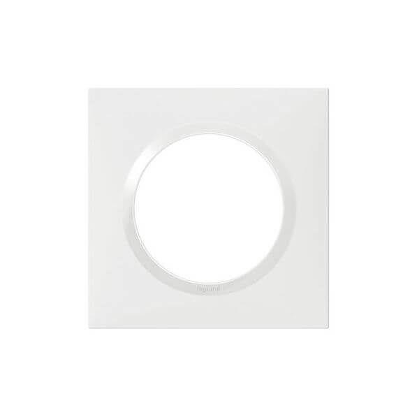 Plaque carrée dooxie 1 poste finition blanc - 600801 - Legrand