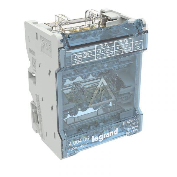 Répartiteur mod monobloc - 4P - 100A 004884 Legrand